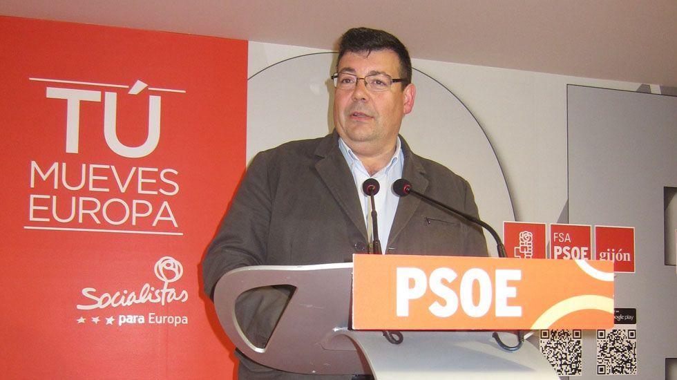 David Moreno, alcalde de Aller.Santiago Martínez Argüelles