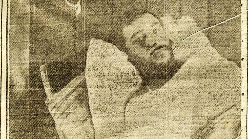 Mamed Casanova, «Toribio», postrado en una cama en la enfermería de la cárcel de Ortigueira