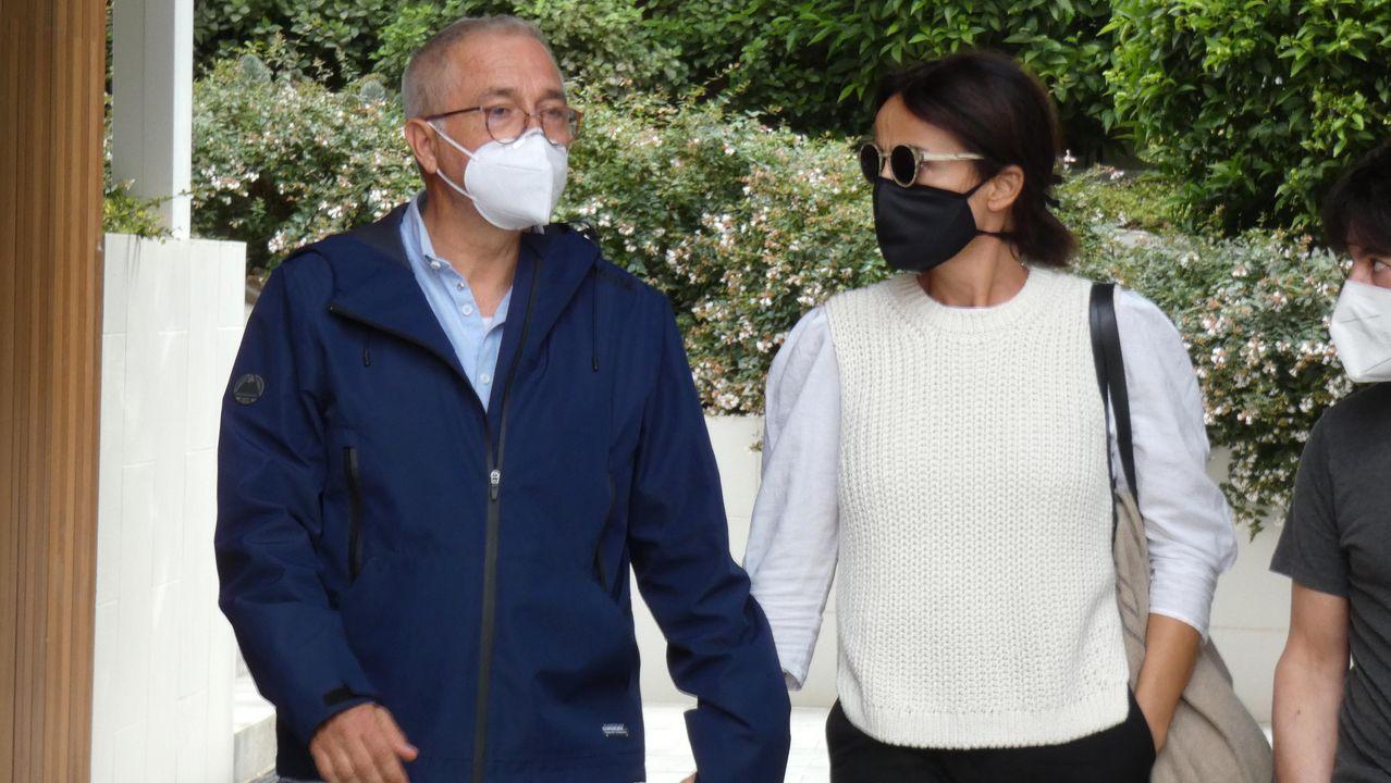 Xavier Sardá junto a su mujer Ana Gutierrez