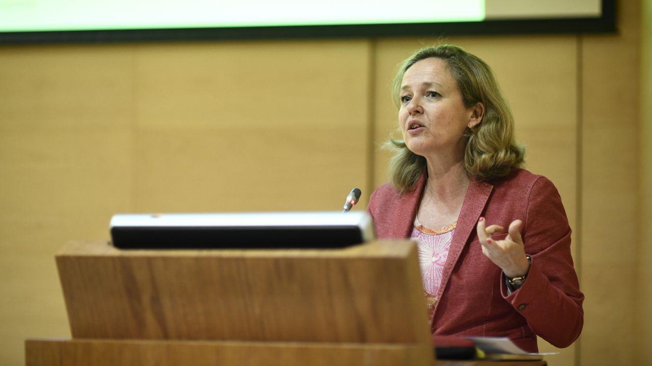 Lorena Gil, portavoz de Podemos en la Junta General