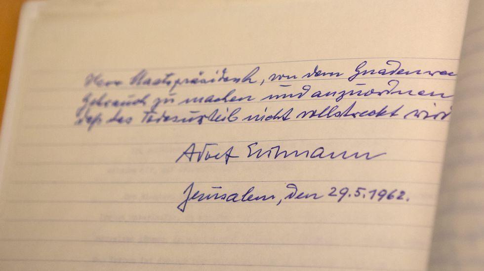 La carta de Adolf Eichmann en la que pedía clemencia al tribunal
