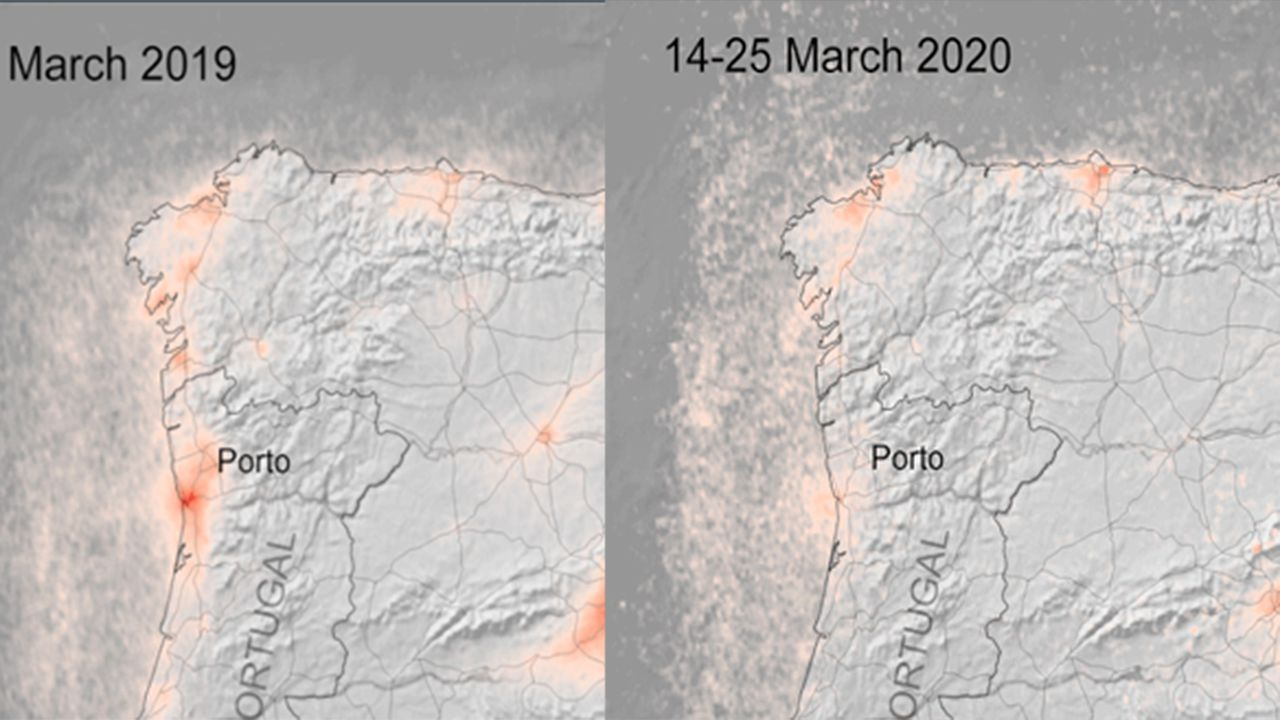 contaminación, polución .La variación de la contaminación en Asturias durante la cuarentena