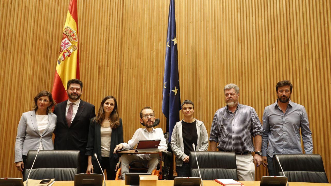 La ruptura con Errejón deja a Podemos sumido en la incertidumbre.Echenique e Iglesias, el pasado septiembre en Madrid
