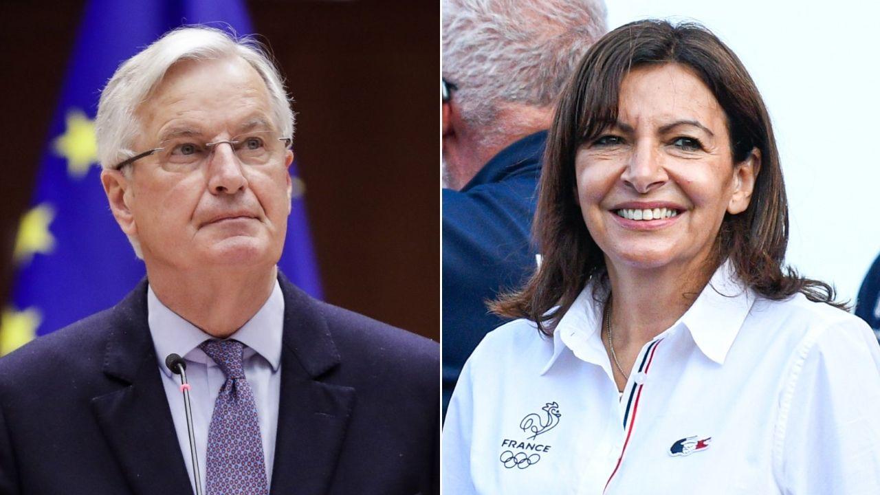 El exnegociador del «brexit» Michel Barnier y la alcaldesa de París, Anne Hidalgo