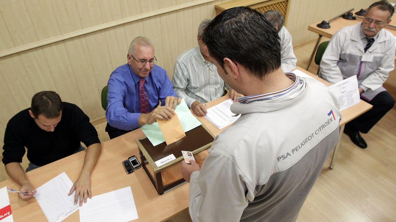 Imagen de archivo de votaciones sindicales en PSA