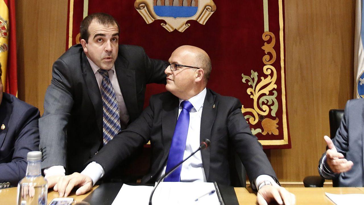 Francisco Cacharro, con el presidente de la Diputación, José Manuel Baltar