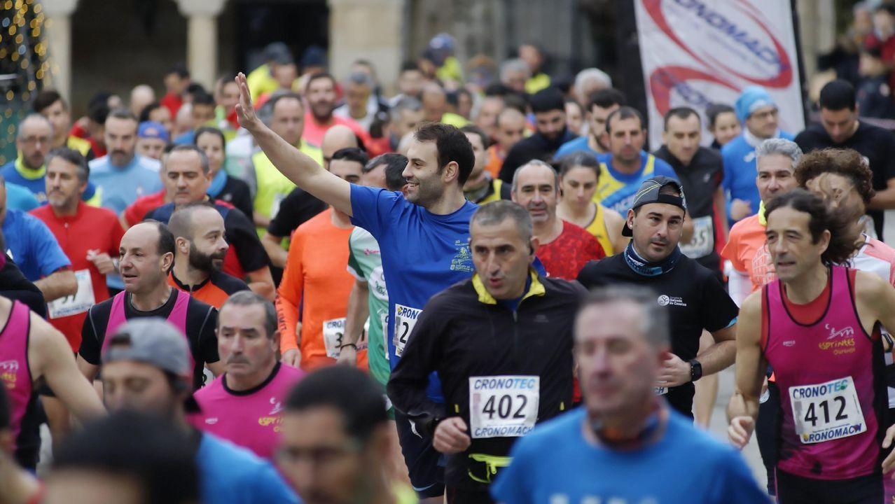 Sexta carrera popular pedestre de Ribadavia.El buen humor y el deporte han reinado en la prueba popular
