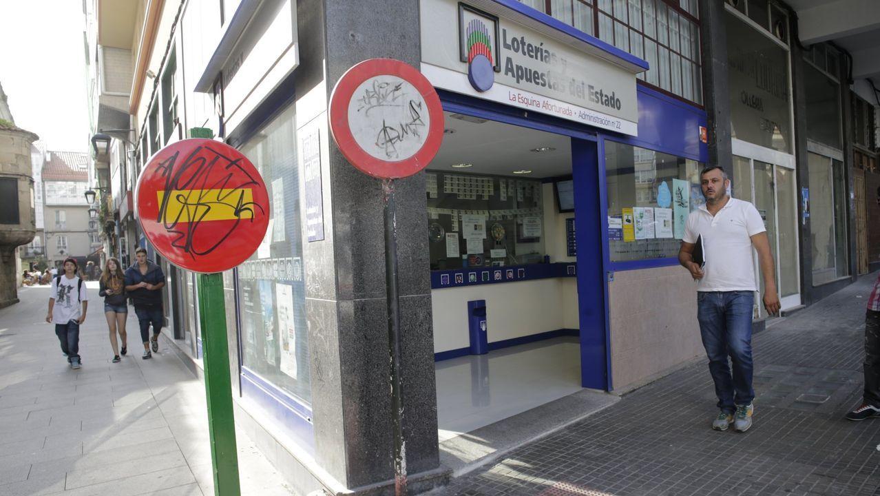 La Festa da Pataca de Coristanco, en marcha: ¡mira las imágenes!.Administración de lotería donde apareció el boleto