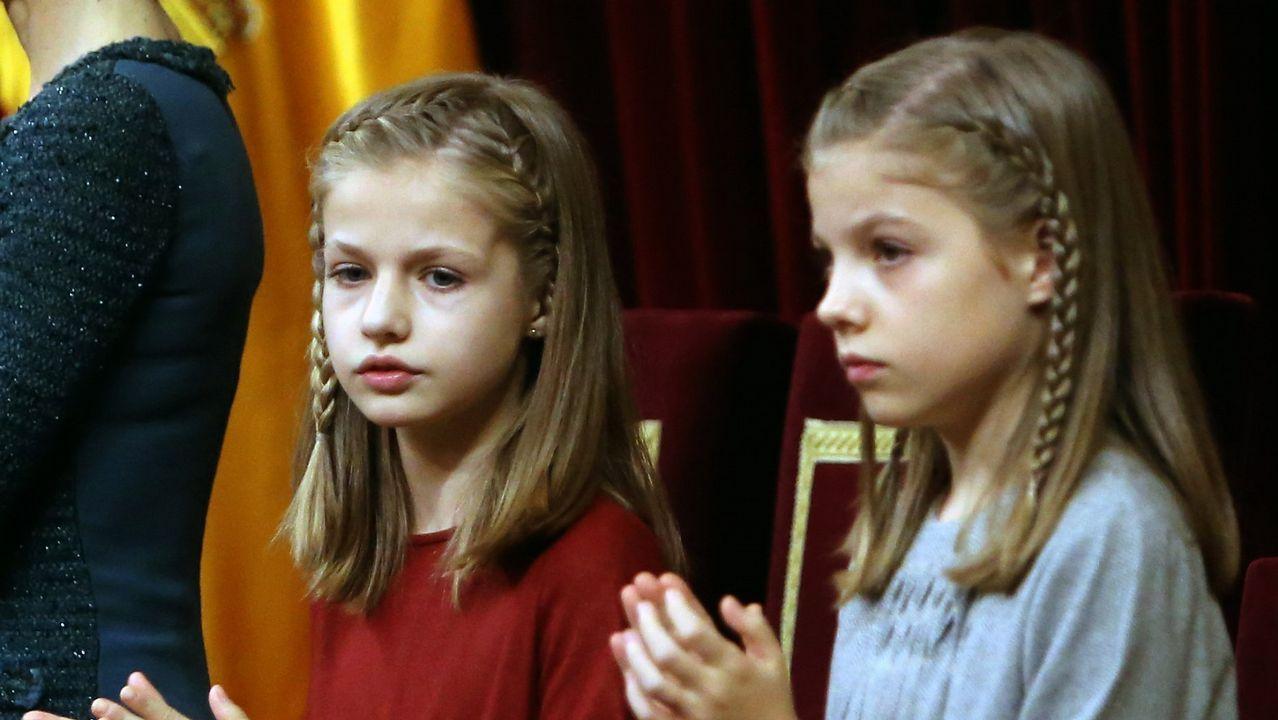 La infanta en el acto solemne de apertura de la XII legistaltura, en noviembre de 2016