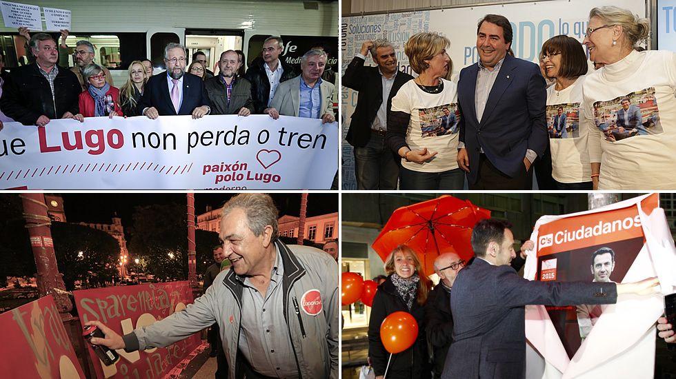 Aperturas de campaña en Lugo, A Coruña y Santiago