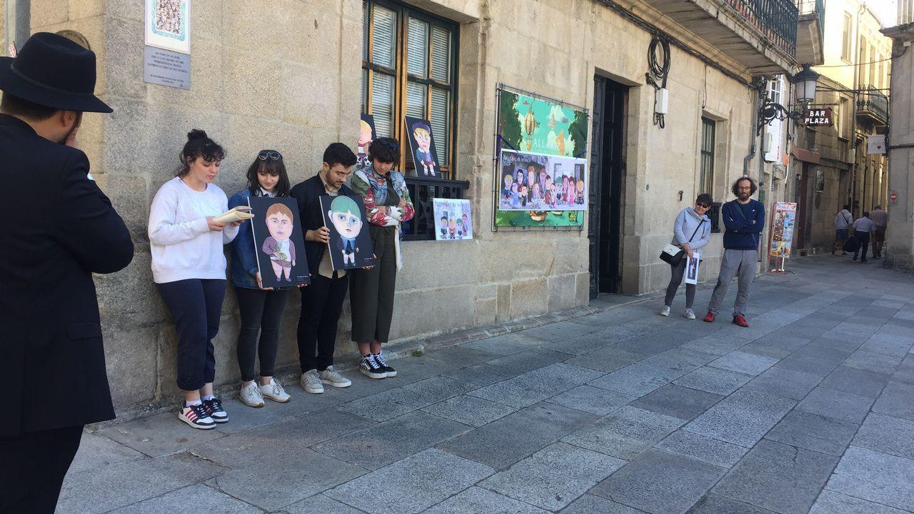 Roteiro língua das bolboretas en Allariz.Primera fiesta del barrio de A Tinería