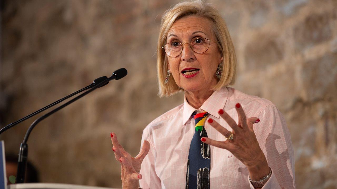 La presidenta de Ciudadanos, Inés Arrimadas, en un acto del partido en Barcelona