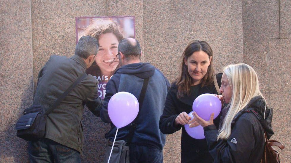 Soraya Verdés y Natalia Moñino, en un acto de la pasada camapaña electoral