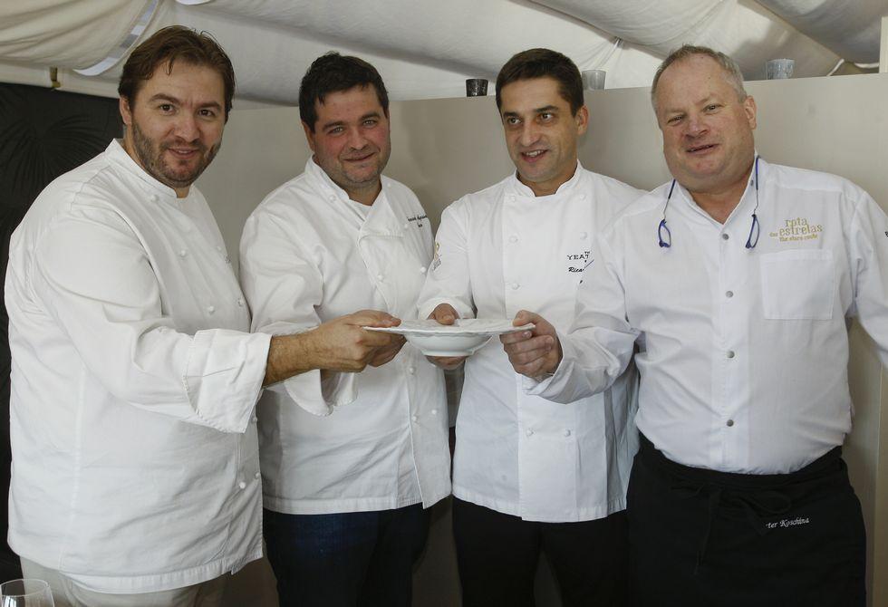 Los chef Vitor Matos, Fernando Agrasar, Ricardo Costa y Dieter Koschina, de izquierda a derecha.