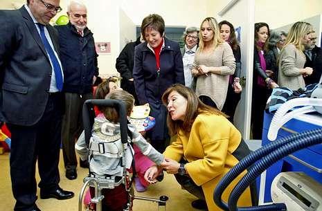 Mosquera estuvo ayer con Beatriz Mato en la apertura del Ano Galego da Parálise Cerebral.