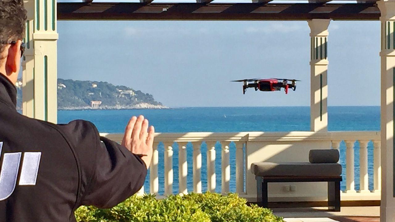 Control de un dron Mavic Air con la mano