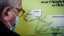 Mapa que muestra la ruta entre un puerto francés e Irlanda del Norte