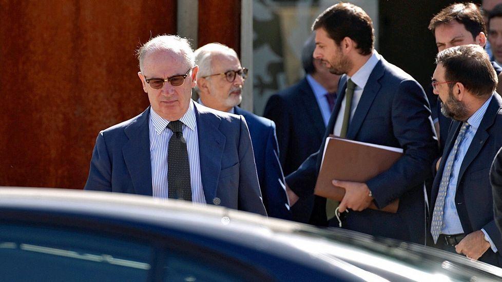 «Esto es casi como jugar al trivial», dice en el juicio de las tarjetas black.Rodrigo Rato llega a la Audiencia Nacional