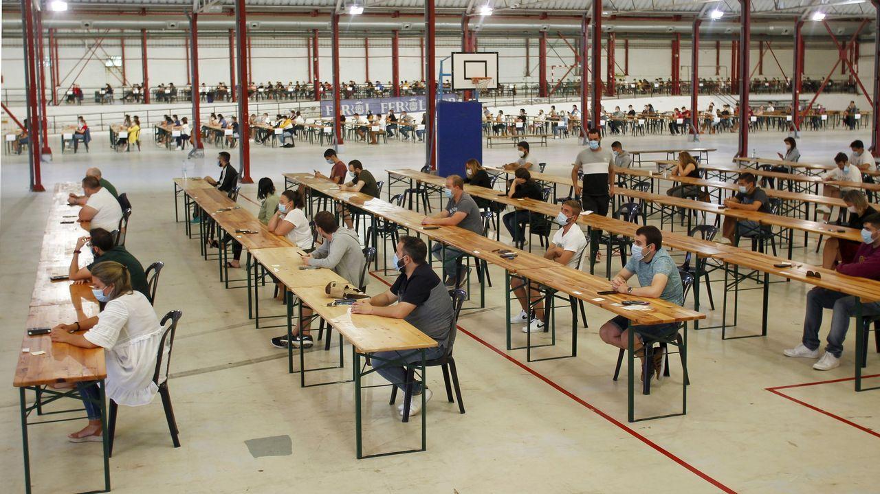 Vista de una de las pruebas para acceder a los puestos ofertados por Navantia
