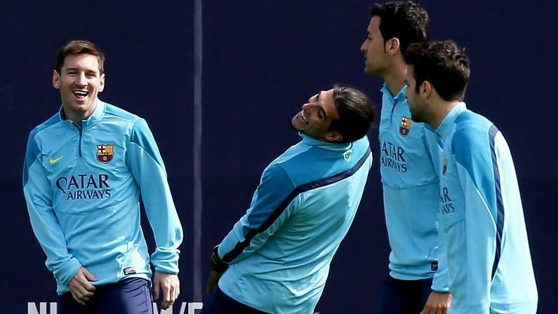 El Barça, preparando el duelo contra el Celta