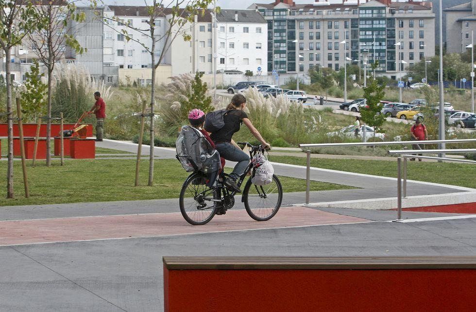 El parque que se quiere dedicar a Amalia Bóveda se encuentra en el polígono de A Eiriña.