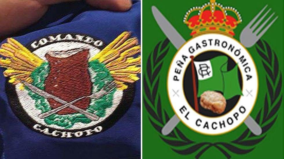Las inéditas estampas asturianas de la Guerra Civil.Emblemas de las «peñas cachoperas»