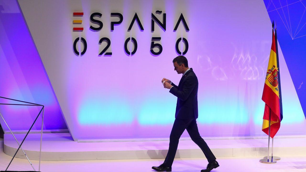 El presidente de Gobierno, Pedro Sánchez, durante la rueda de prensa ofrecida este martes tras participar en la reunión extraordinaria del Consejo Europeo en Bruselas
