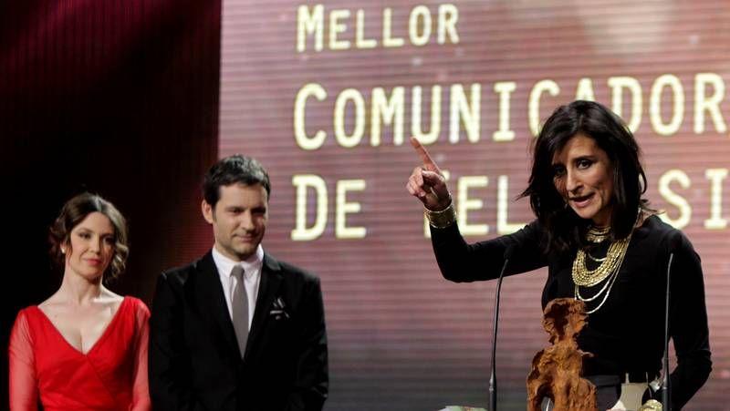 La gala de los Premios Mestre Mateo.Fernanda Tabarés ganó el Mestre Mateo a la mejor comunicadora.