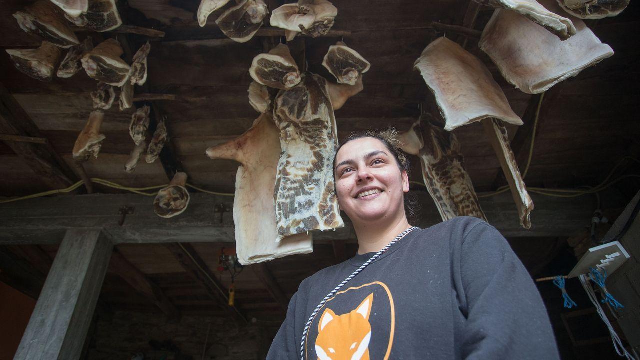 Leticia, na Casa do Chao, onde fixeron a matanza xa hai un par de meses