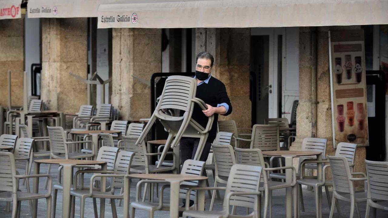 Instalación de terrazas en A Coruña