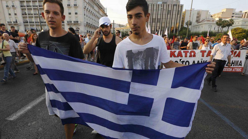 Protesta contra la austeridad.