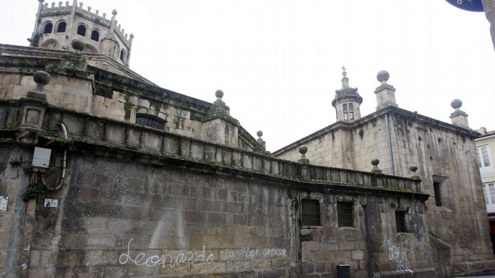 Pintadas en la catedral en el año 2008