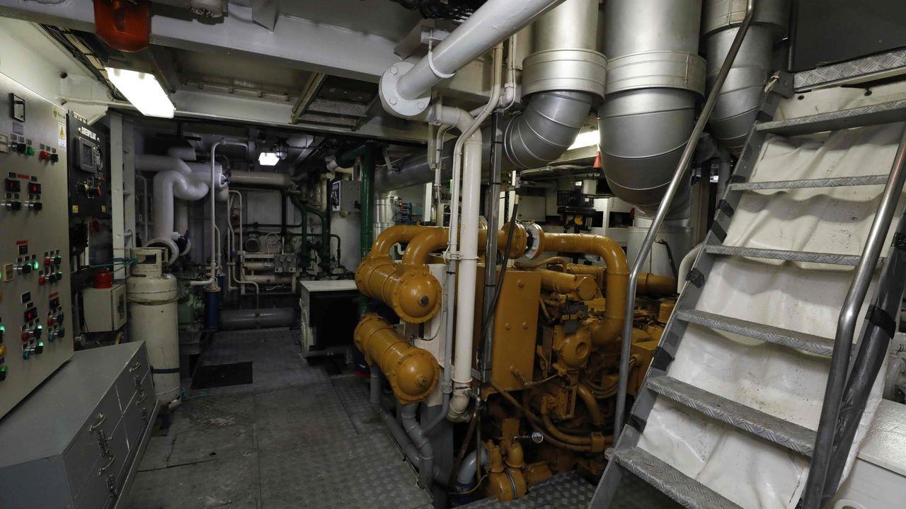 Imagen de archivo de la sala de máquinas de un pesquero gallego