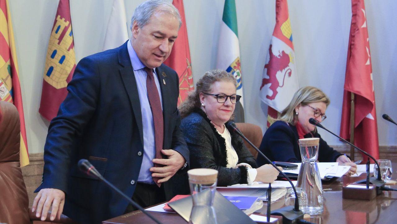 Tomé, a la izquierda, se mostró crítico con la actitud del PP ante el covid-19