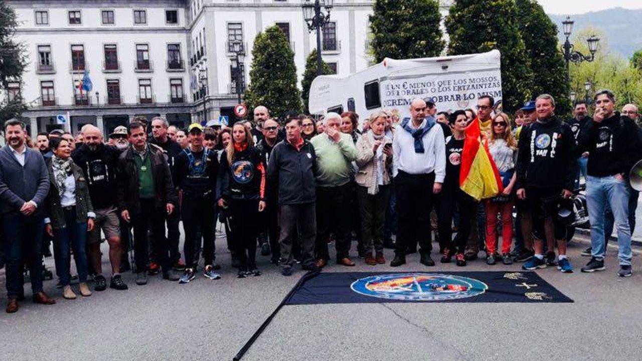 Marcha reivindicativa hacia Madrid de la plataforma Jusapol (Justicia Salarial Policial)