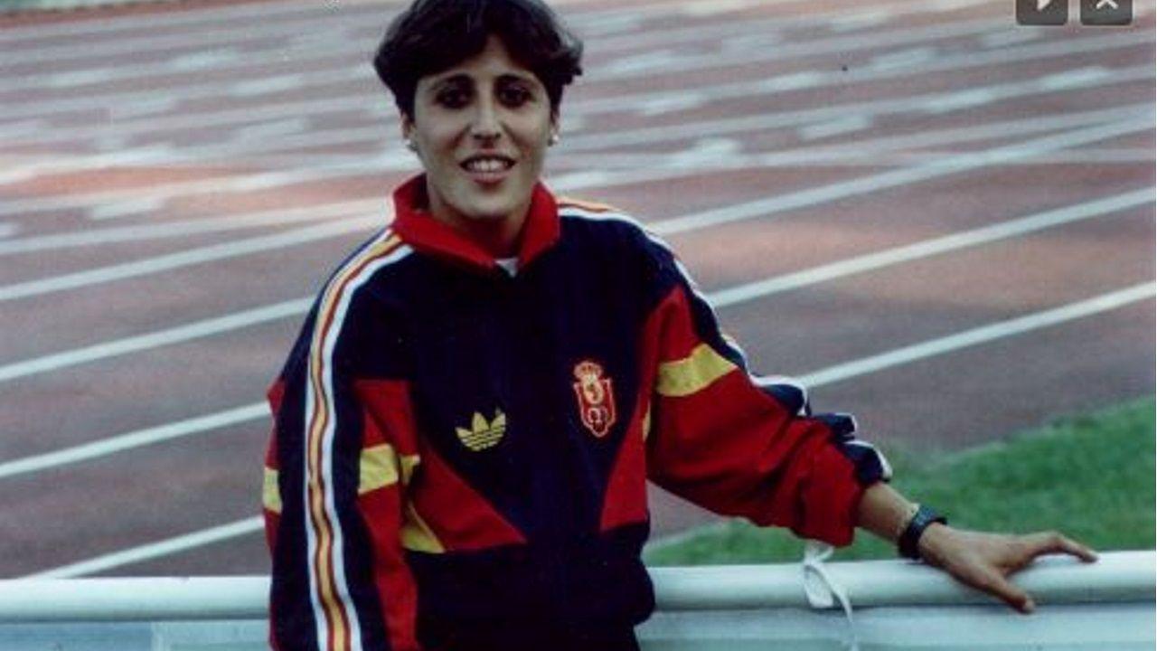Patiño, campeona de 60 metros valla, en la época en la que fue injustamente sancionada.