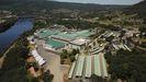 Imagen aérea de la sede central de Coren, en Santa Cruz de Arrabaldo