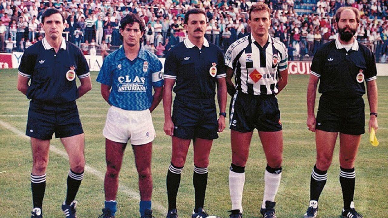 Berto y Javi, capitanes de Oviedo y Castellón, en la primera jornada de la 89/90