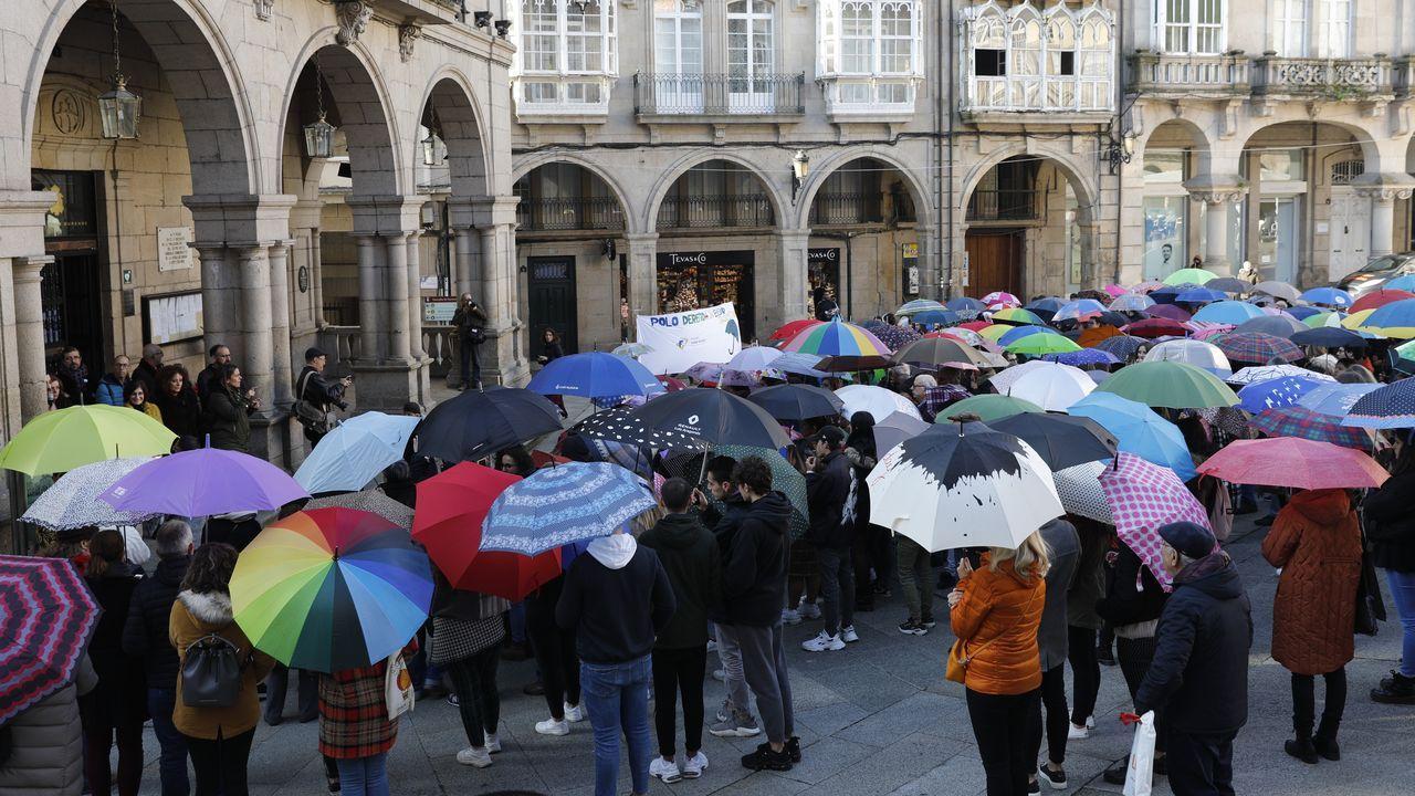 Una decena de organizaciones leyeron un manifiesto a las puertas del Concello