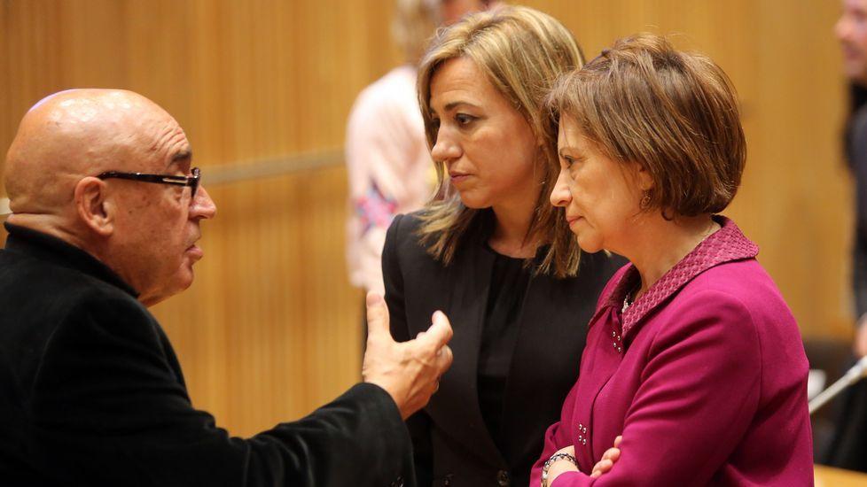 Su último acto político. Chacón acompañó a Susana Díaz en la presentación de su candidatura, el pasado marzo