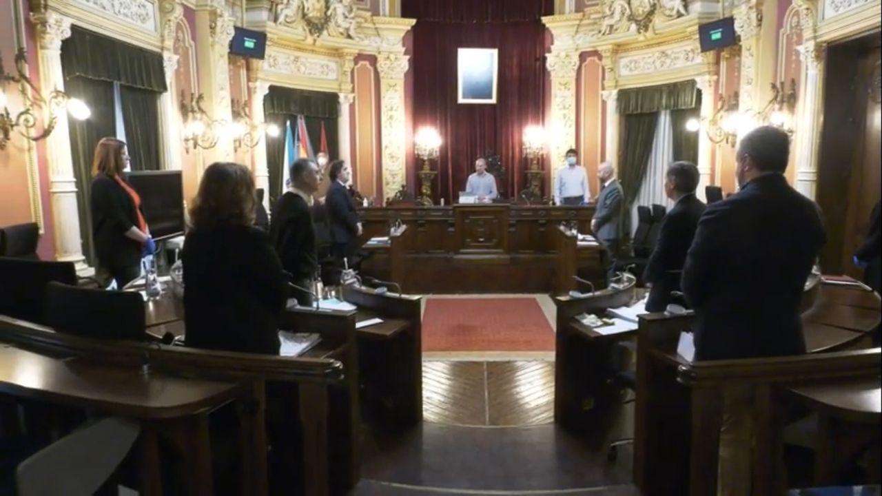 El pleno arrancó con un minuto de silencio en homenaje a las victimas del covid-19