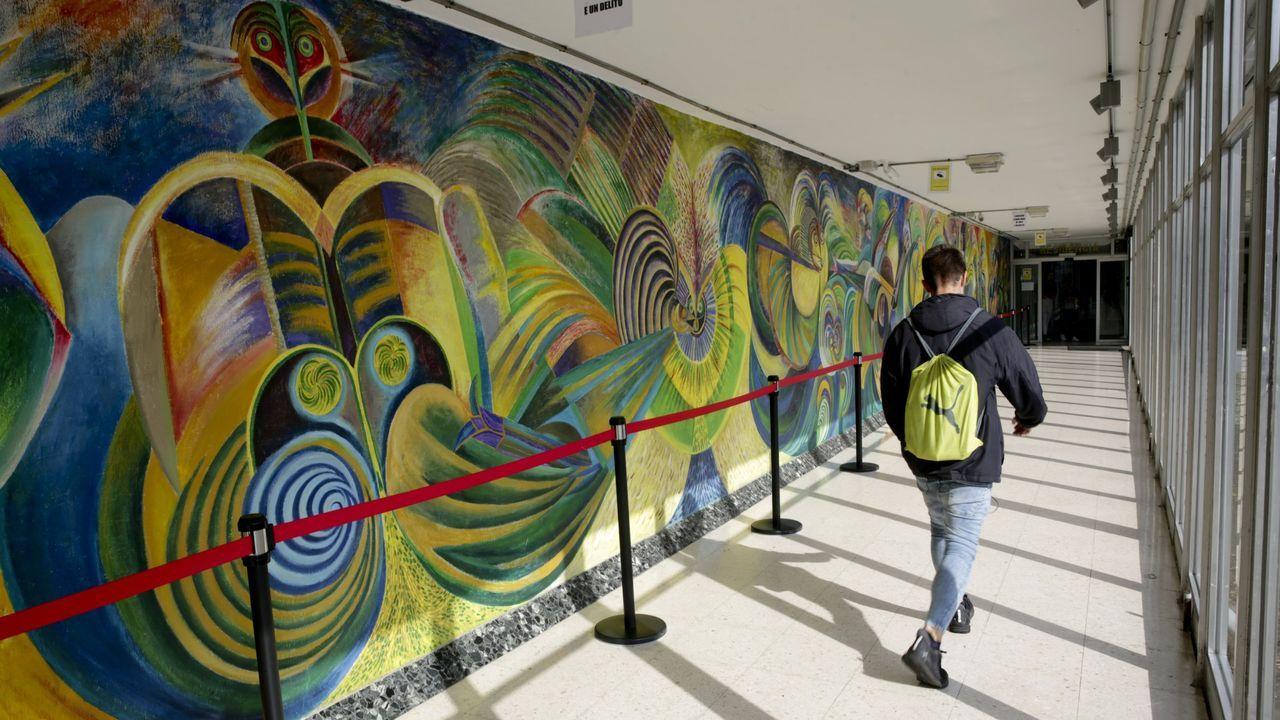 periferia.Murales en la Universidade Laboral.