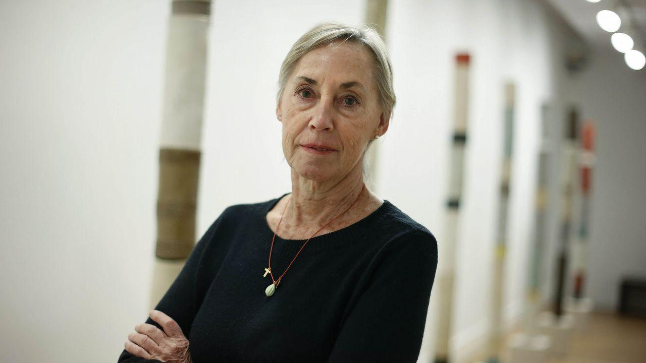 Debut 2018.Algunas de las obras que expone Gloria García Lorca fueron hechas en Galicia