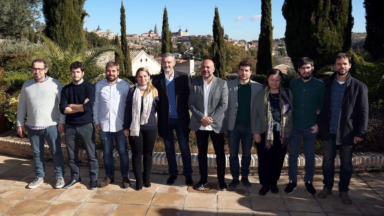 Podemos denuncia las prácticas de Mallada en Hunosa.José Ángel Gayol y Daniel Ripa, de Podemos Asturies
