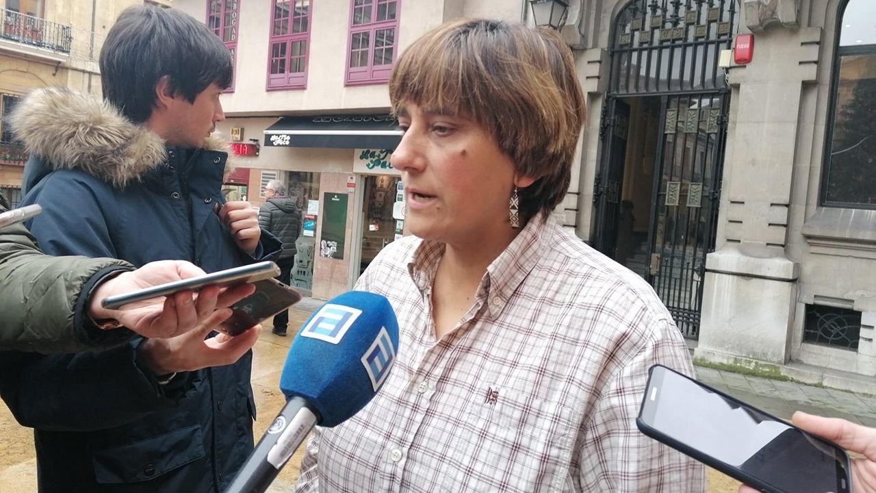 Acto de encendido de la iluminación navideña de Oviedo.La concejala del PSOE en el Ayuntamiento de Oviedo Ana Rivas