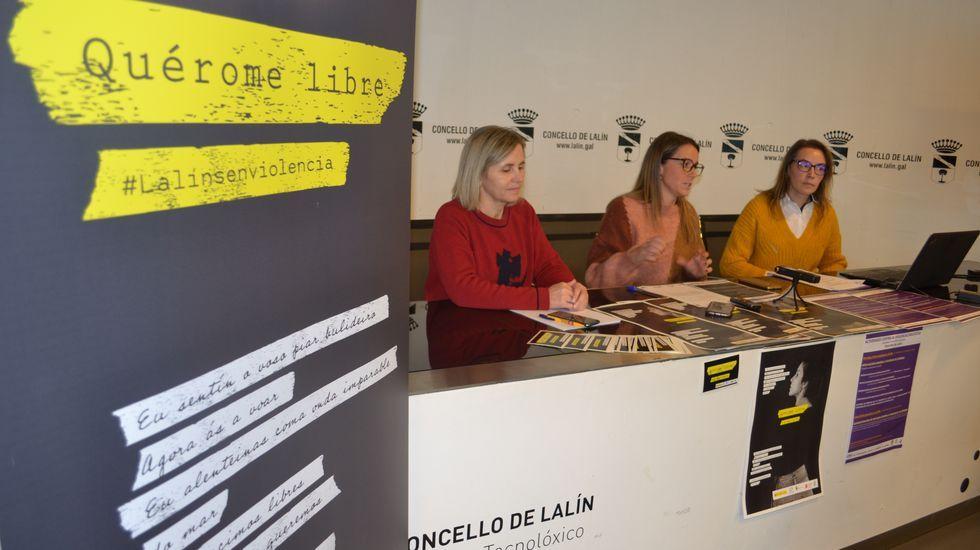 Ourense contra la violencia machista.Radar fijo de cabina lateral en la N-VI, en Oleiros