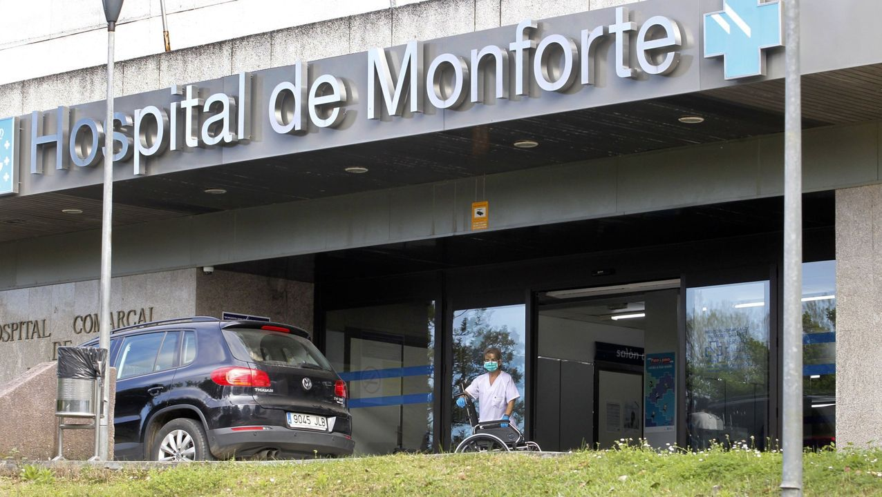 Entrada princiipal del hospital comarcal de Monforte