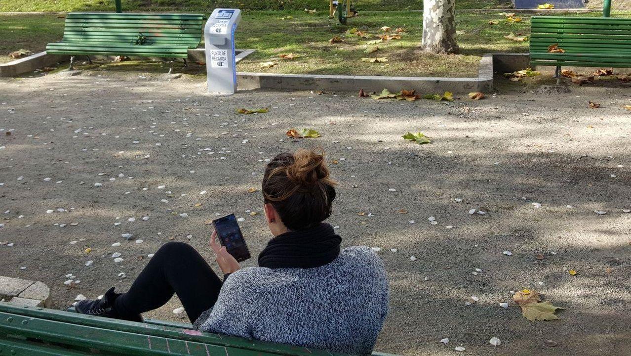 Punto de acceso gratuito a Internet en la plaza del Concello de Sober