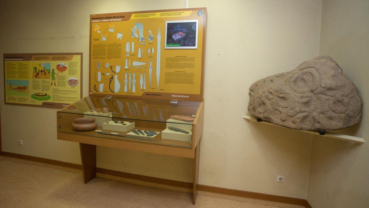 Imagen de una de las salas del museo de Vilalba