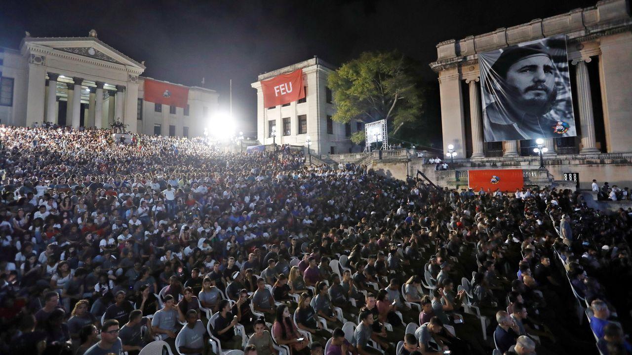Guaidó: «Espero que la democracia española sea fuerte para hacer frente a la dictadura de Maduro».Protesta contra el Gobierno de Nicolás Maduro convocada por la oposición